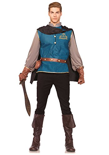 [Leg Avenue Men's 4 Piece Storybook Prince Costume, Multi, Medium/Large] (Storybook Prince Adult Mens Costumes)