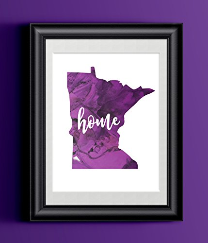 Minnesota Home Watercolor Print | State Home Poster | Wall Decor