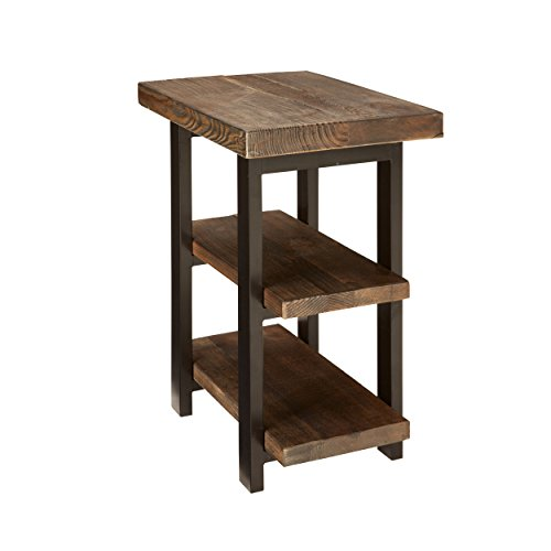 Alaterre AZMBA0220 Sonoma Rustic Natural 2 Shelf End Table, Brown - 2 Shelf Metal Table
