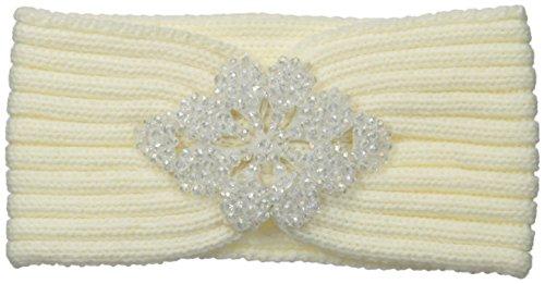 Betsey Johnson Women's Crystal Ballin Headband with Jewels, Ivory, One Size
