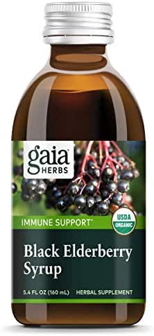Gaia Herbs Black Elderberry Syrup - Daily Immune Support with Antioxidants, Organic Sambucus Elderberry Supplement, 5.4 Fl. Oz