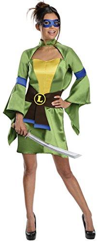 [Rubies Womens Tmnt Leonardo Theme Party Fancy Halloween Costume, S (4-6)] (Ninja Turtle Female Costumes)