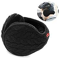 YIXIA Earmuffs Warm - Unisex Foldable Knit Cashmere Plush-Lined Earmuffs Winter Earmuffs for Men & Women