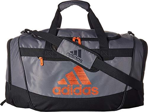 adidas Defender III Duffel Bag, Grey/Night Grey/True Orange, One ()