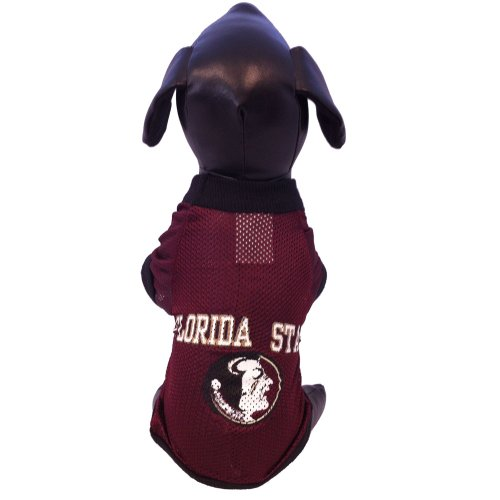 NCAA Florida State Seminoles Athletic Mesh Dog Jersey (Team Color, Small)