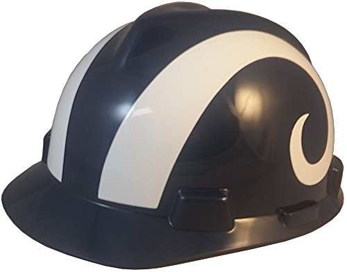 a76190bbf05661 MSA NFL Team Safety Helmets with One-Touch Adjustable Suspension and Hard  Hat Tote - Los Angeles Rams