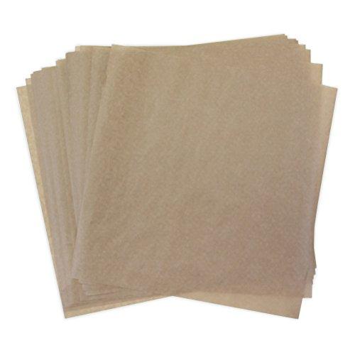 Kraft Dry Wax Paper Deli Wrap and Basket Liner (Natural Brown Kraft 12x12, pack of 25) ()