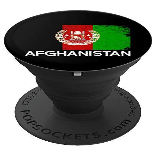 Afghan Flag Design | Vintage Made In Afghanistan Gift - PopSockets Grip and Stand for Phones and Tablets