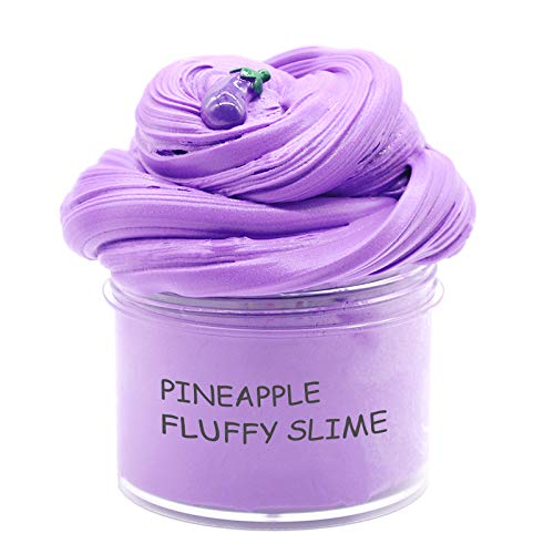 iWeller 2019 Newest Purple Egglpant butter Fluffy Slime