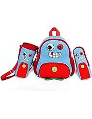 Nohoo Kids monster Backpack 3D Cute Zoo Cartoon School Boys Girls Twins Bags