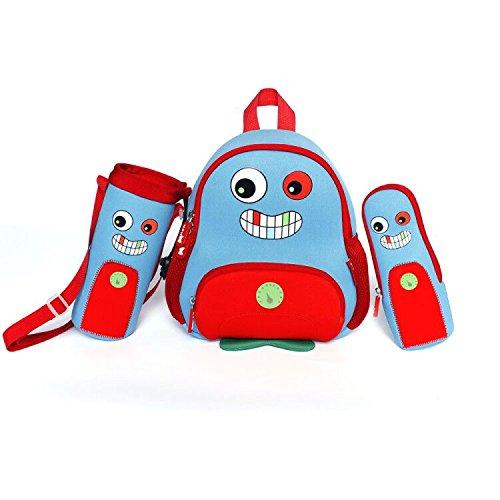 Nohoo 3D Owl Kids Backpack Cartoon Children Monsterl Schoolbag