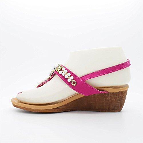 London Footwear - Sandalias de vestir para mujer Rosa - rosa
