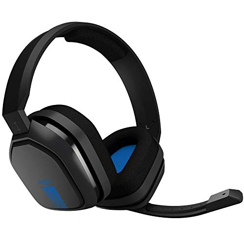 ASTRO Gaming A10 Headset for Xbox One/Nintendo Switch / PS4 / PC and Mac - Wired 3.5mm and Boom Mic by Logitech - Bulk Packaging - Blue/Black
