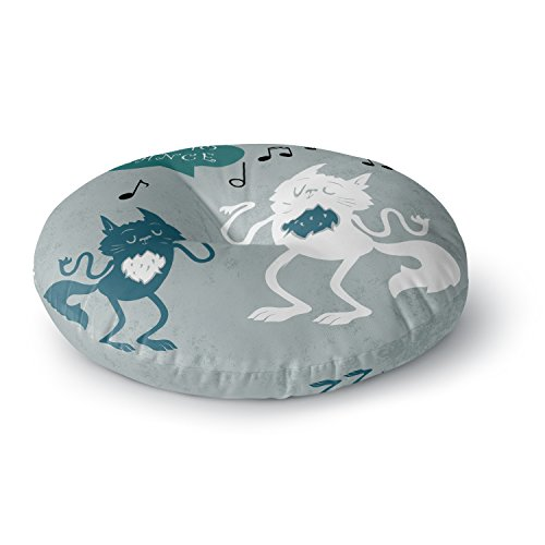 KESS InHouse Anya Volk Time to Dance Green White Round Floor Pillow by Kess InHouse (Image #1)