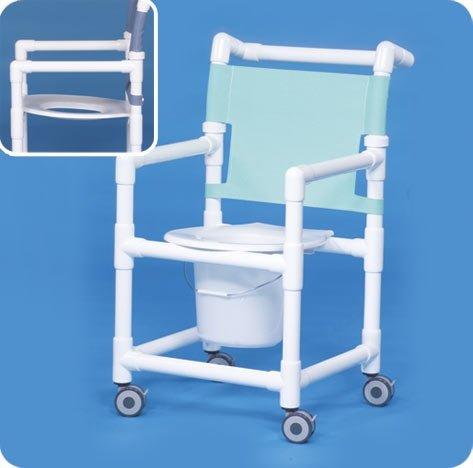 Slant Seat Shower Chair Commode - SC9211P: 41