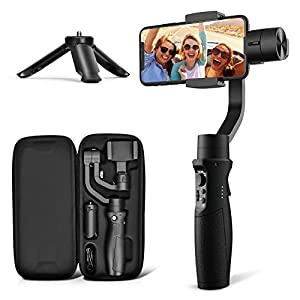 3-Axis Gimbal Stabilizer for iPhone 11 PRO MAX X XR XS Smartphone Vlog Youtuber Live Video Record with Sport Inception Mode Face Object Tracking Motion Time-Lapse - Hohem iSteady Mobile Plus 24