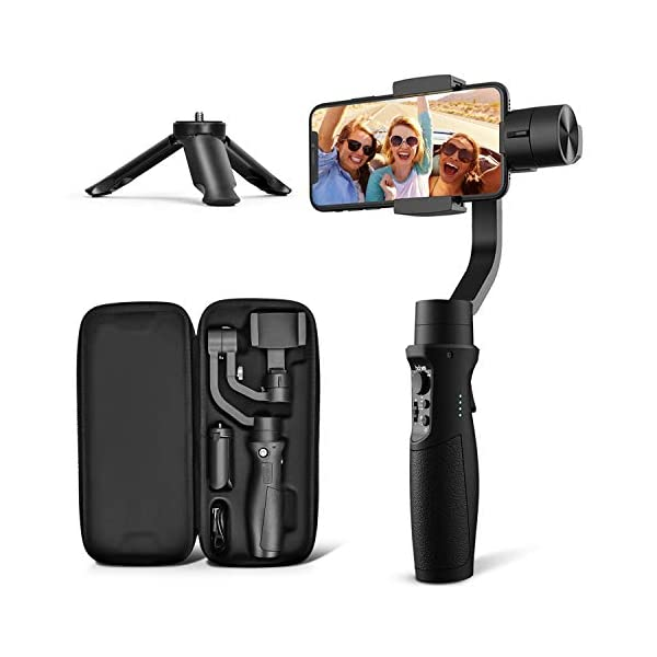 3-Axis Gimbal Stabilizer for iPhone 11 PRO MAX X XR XS Smartphone Vlog Youtuber Live Video Record with Sport Inception Mode Face Object Tracking Motion Time-Lapse - Hohem iSteady Mobile Plus 1