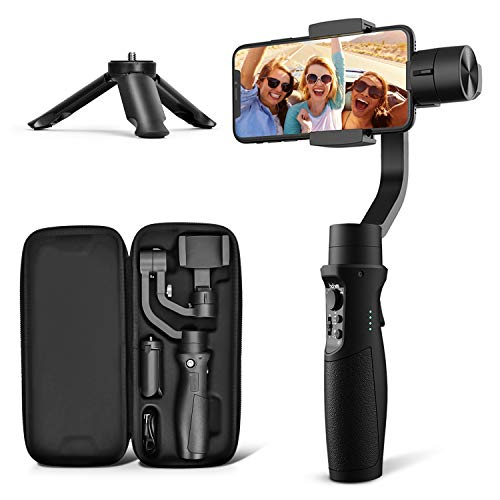 3-Axis Gimbal Stabilizer for iPhone 12 11 PRO MAX X XR XS Smartphone Vlog Youtuber Live Video Record with Sport…