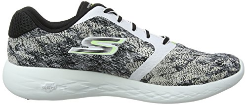 2 Damen Black Owl Skechers Nite Hallenschuhe White Run Go 600 V Schwarz 2017 Performance 8cq5g