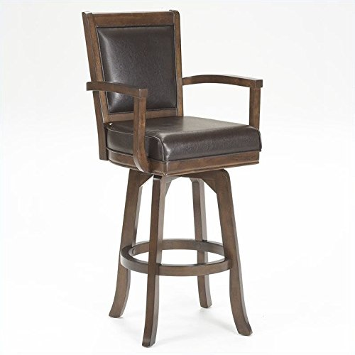 Hillsdale Furniture Ambassador Swivel Bar Stool - Cherry Finish Pub Game Table