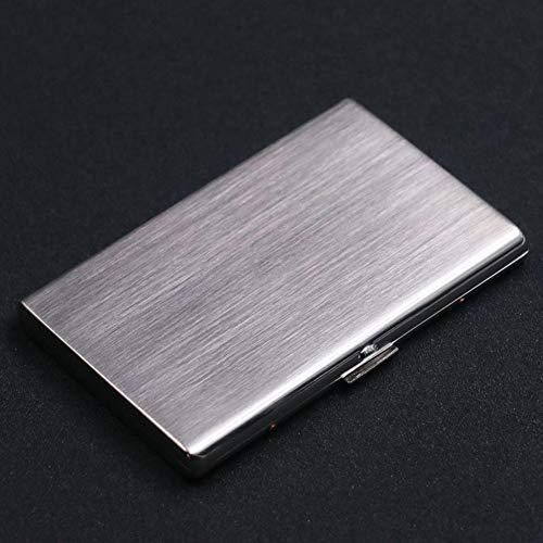 Single Sided Cigarette Case Holds - NACHEN Metal Cigarette Case Ultra Thin Portable Anti Pressure Ladies Tobacco Box Can Hold 12 Fine Cigarettes,Silver,105X70X10MMK