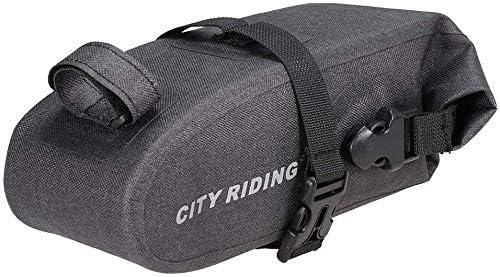 自転車収納袋、サイクリングサドルバッグ - 1.5Lバイクサドルバッグ自転車シートポストバッグ撥水バイクリアシートバッグロードバイクのテール収納袋
