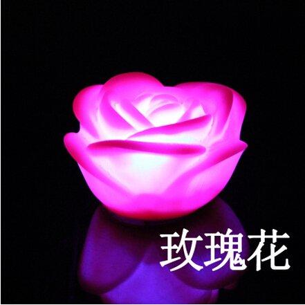 新しい10pcsロマンチック7色変更ローズフラワー夜ライトルームパーティー装飾Candleローズライトランプバレンタインの日ギフト B00L9XJ9KY