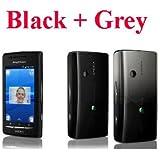 SONY ERICSSON XPERIA X8/E15i (BLACK)(BLACK+GREY 2 BACK COVERS)/ ORIGINAL UNLOCKED INTERNATION GSM PHONE