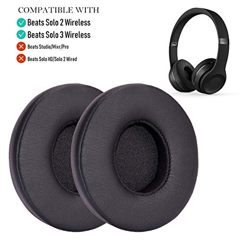 Oriolus Replacement Earpads for Beats Solo 2 Solo 3 Wireless On Ear Headphone with Storage case (Black)