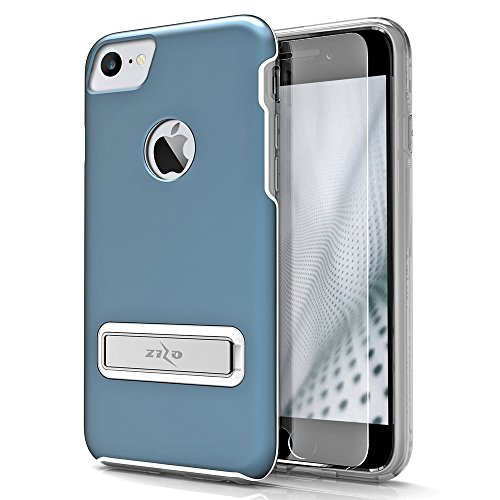 iPhone 8 Case / iPhone 7 Case by Zizo [Elite Series] with FREE [iPhone 8 Screen Protector] Shockproof Protection with [Built In Magnetic Kickstand]