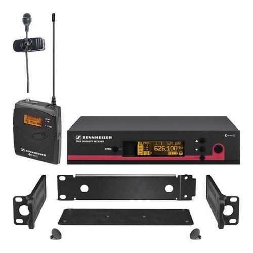 Sennheiser ew 122 G3 Wireless Bodypack Microphone System, EM 100 G3 Receiver, SK 100 G3 Bodypack, ME 4 Lavalier Mic, GA 3 Rackmount Kit, A: 518-558MHz by Sennheiser