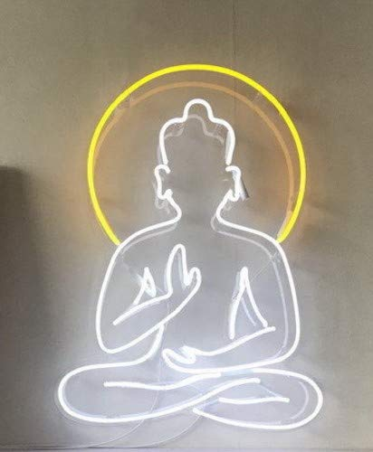 Buddha Large neon wire sign Bright Neon Light Advertising Sign bar pub -
