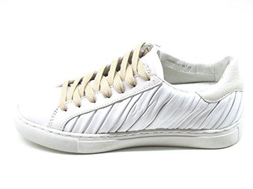 Crime London - Zapatillas de Piel para mujer blanco Bianco