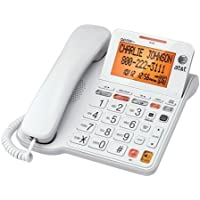 AT&T CL4940 Corded Phone with Answering System, Backlit Display, Extra-LargeColor: White Tilt Display/Buttons, Caller ID/Call Waiting and Audio Assist, White