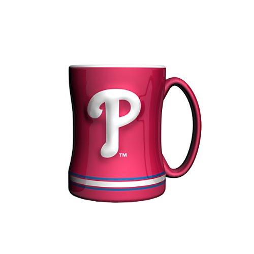 (MLB Philadelphia Phillies Sculpted Relief Mug, 14-ounce)