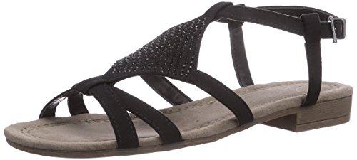 Jane Klain 281 222 - Sandalias de vestir de terciopelo para mujer negro - negro