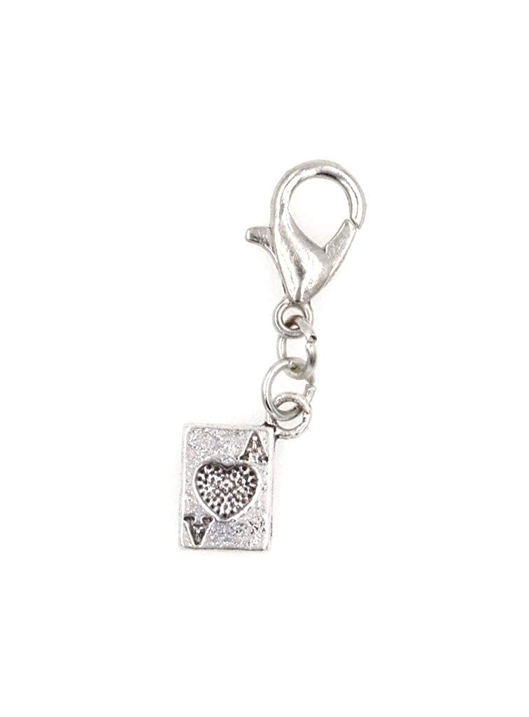 Mini Ace of Hearts Playing Card Clip on Charm Perfect for Necklaces and Bracelets 96D Its All About...You