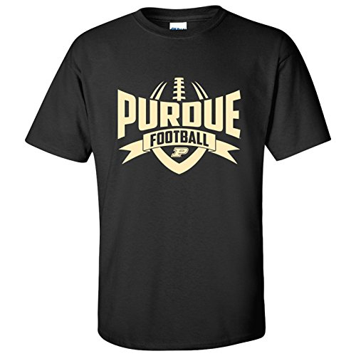 - AS09 - Purdue Boilermakers Football Rush Mens T-Shirt - X-Large - Black