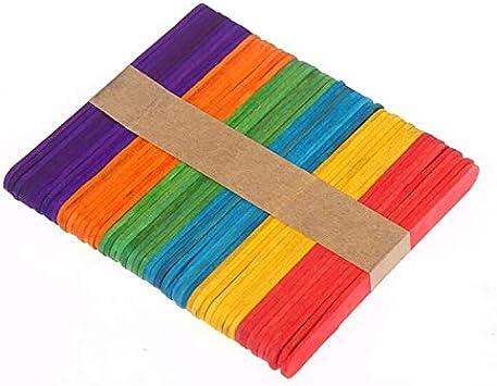 YHSY50Pcs / Lot Color palos de helado de paletas de paletas de ...