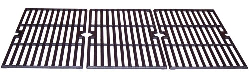 Advantage Music - Music City Metals 68763 Matte Cast Iron Cooking Grid Replacement for Select Gas Grill Models by Charbroil, Kenmore and Others, Set of 3