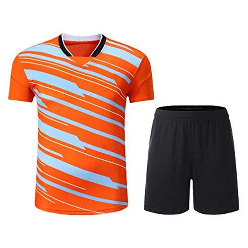 Custom Sport Quick Dry Breathable Golf Badminton Polo Shirt Jerseys Women/Men 2019,Man Suit Orange,4XL