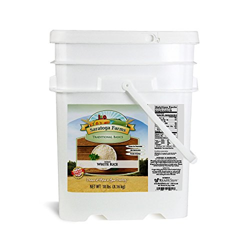 Saratoga Farms Instant Rice ValueBUCKET (1/2 cup servings size/186 Total -