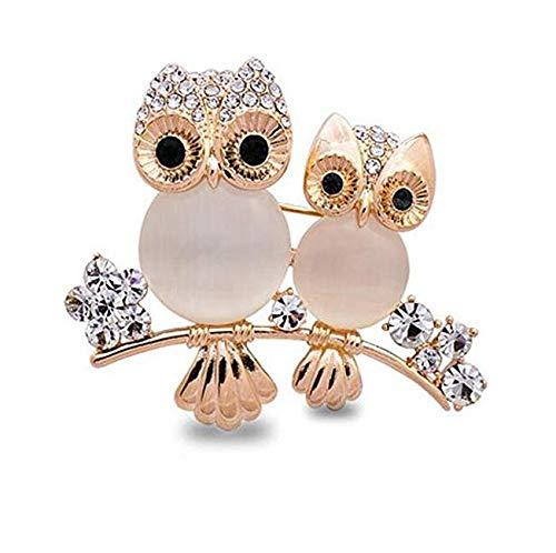 Bobury Brooch Owl Shape Rhinesto...