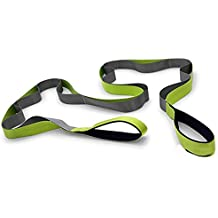 slim Yoga Strap For Stretching,Stretching Strap Guide, Premium Quality Multi-loop Strap,12 Loops,Physical Therapy Stretching Strap for Rehab, Stretching Out, Pilates, Dance&Gymnastics
