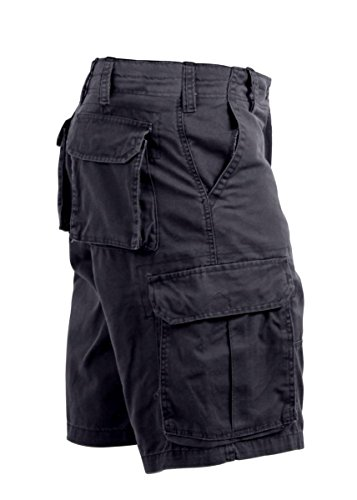Rothco Vintage Paratrooper Shorts, Black, Medium