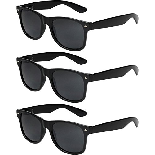 mujer vintage Set Pack nerd B X sol CRUZE® nerd gafas hombre de de Negro gafas retro 3 unisex qwpxSzn7xC