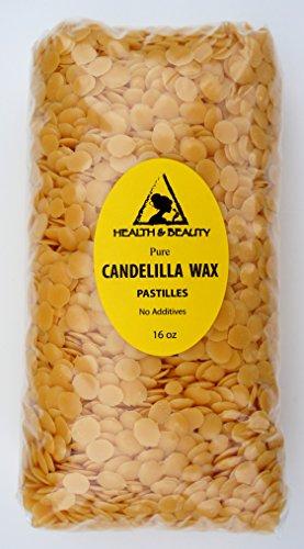 Candelilla cire flocons Vegan bio Pastilles barbes Premium premier Grade 100 % Pure 16 oz, 1lb
