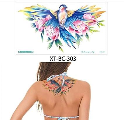 yyyDL Tatuaje temporal en el pecho del esternón Etiqueta engomada ...