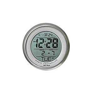 sonnet t  water resistant suction cup atomic clock: small bathroom clock