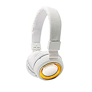 margoun Deep Bass wireless Bluetooth over ear for Apple iPhone XS, XR and XS max in white